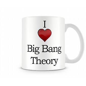Amo la teoria del Big Bang tazza stampata