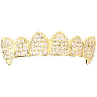 Grillz - gold - one size fits all - VAMPIRES cubic ZIRCONIA top