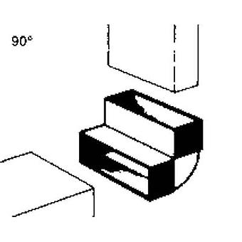 Flat channel ventilation system 100 mm Deflector Wallair 20200113