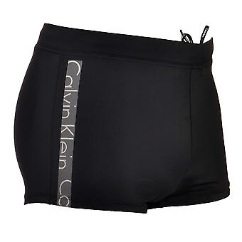 Calvin Klein Core Logo Tape Swim Trunks, Black, X Large