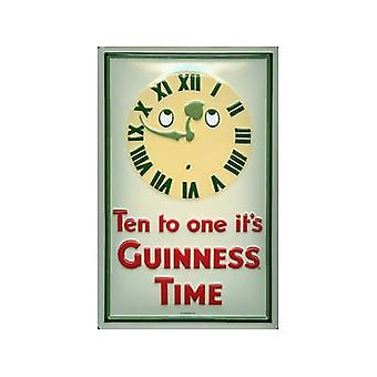 Guinness diez a uno en relieve acero signo