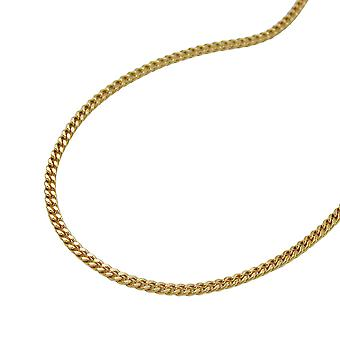 Gold tank chain, curb chain 45 cm, 9 KT GOLD 375 spring ring clasp