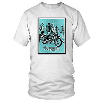 Triumph Classic Retro Motorcycle Motorbike Poster Mens T Shirt