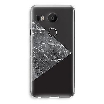 LG Nexus 5X Transparent Case - Marble combination