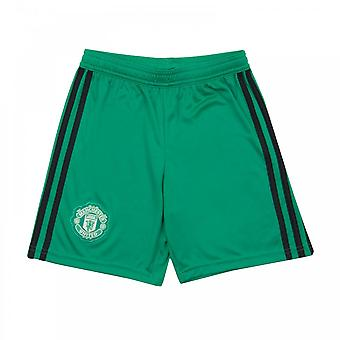 Adidas Juniors Manchester United 2018/2019 Goalie Home Shorts (Green)