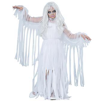 Ghostly Girl Ghost Spirit Soul Haunt Phantom Halloween Dress Up Girls Costume