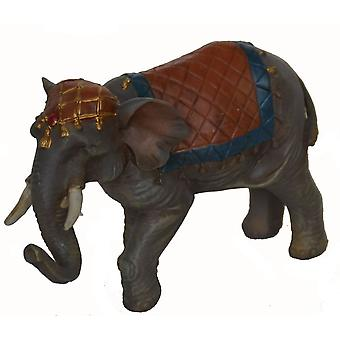 Nativity accessories elephant with saddle blanket and head ornaments for Christmas Nativity Manger Nativity