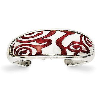 Sterling Silver Enameled Pattern Toe Ring