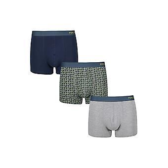 New Designer Mens Pepe Jeans Short Boxer Trunk Shorts Olly Gift Set