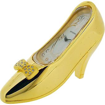 Gift Time Products High Heel Shoe Miniature Clock - Gold