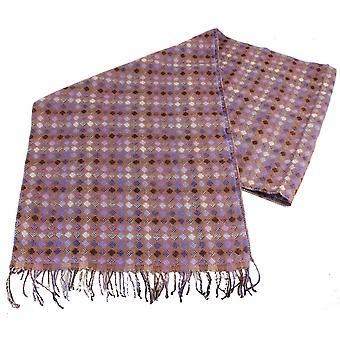Bassin and Brown Messi Mini Diamond Wool Scarf - Brown/Blue