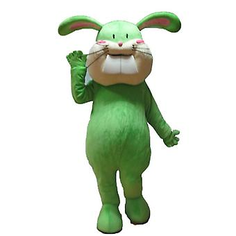SPOTSOUND of green and beige, all soft and cute Bunny mascot
