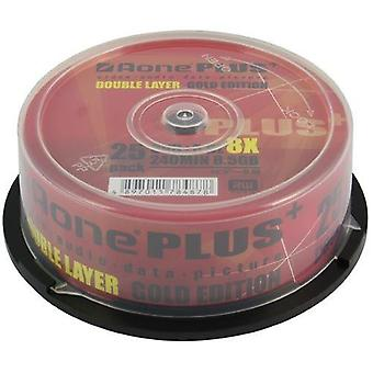 Aone DVD 8X 8.5GB Dual Layer Logo OVERBURN Gold Edition 25pcs Blank TV Film Media