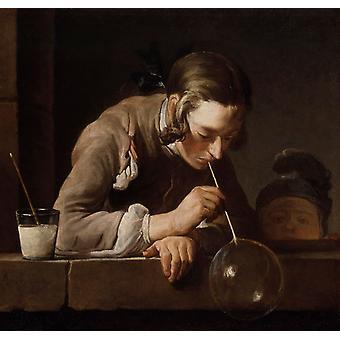 La bulle de savon, jean-Jean-Baptiste-Siméon Chardin, 61x63cm