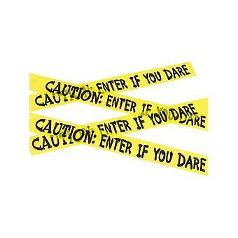 Attenzione inserire se osate nastro, giallo & nero, 6m/236 in