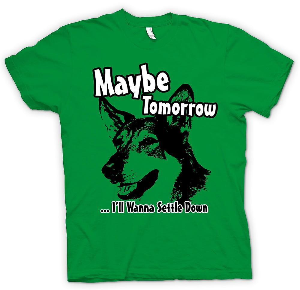 Hommes T-shirt - Littlest Hobo - Maybe Tomorrow - Drôle