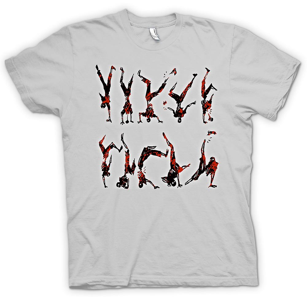 Hombres camiseta-Zombie Break Dancing
