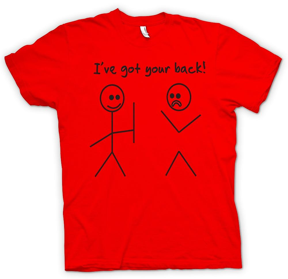 Heren T-shirt-Stickmen, Ive Got je rug - offerte