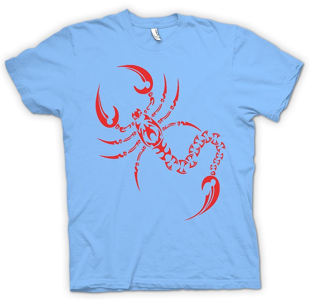 Mens T-shirt-Scorpion-Stammes-Design