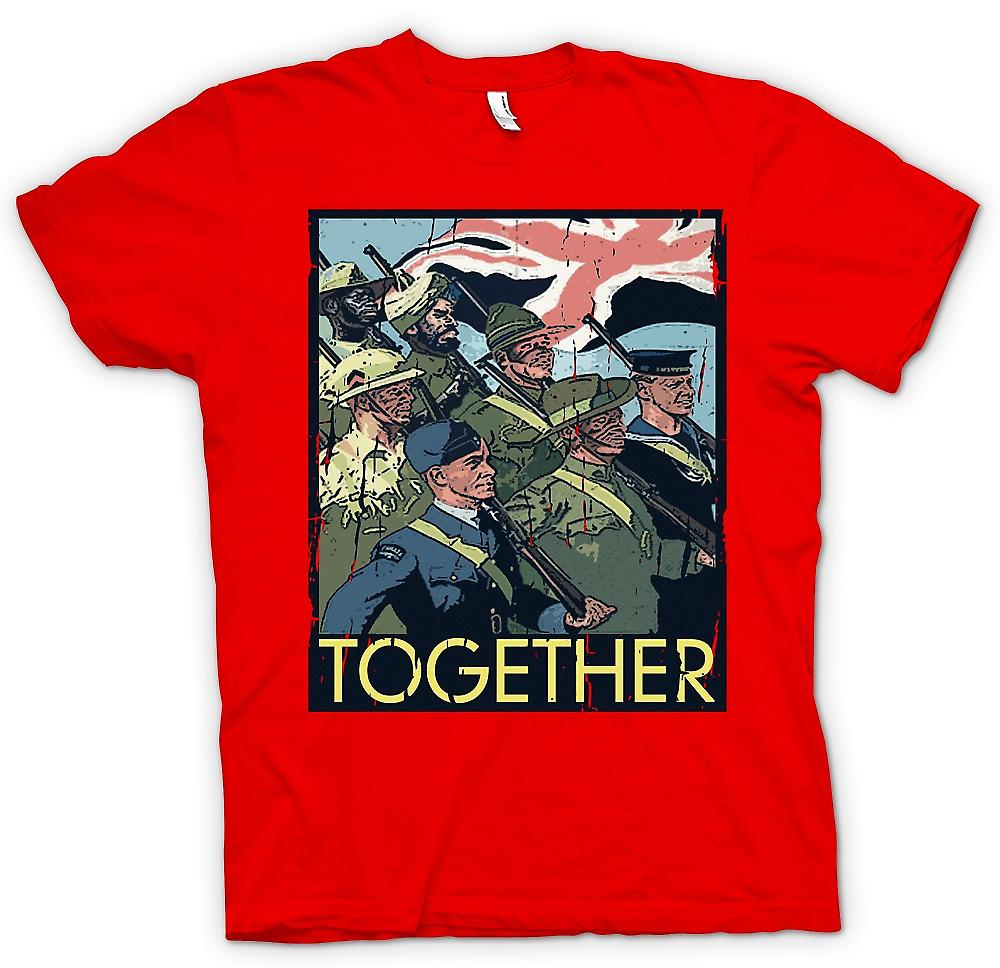 Mens T-shirt - Together - WW2 Commonwealth Troops - World War
