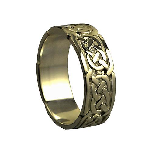 9ct Gold 6mm Celtic Wedding Ring Size Q