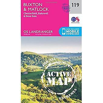Buxton & Matlock, Chesterfield, Bakewell & Dove Dale (OS Landranger Map)
