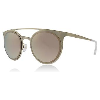 Emporio Armani EA2068 30135A Pale Gold EA2068 Round Sunglasses Lens Category 3 Lens Mirrored Size 52mm
