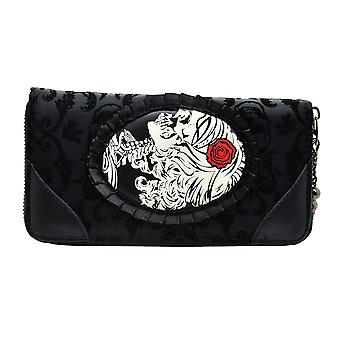 Banned Vine Black Cameo Lady Lace Purse