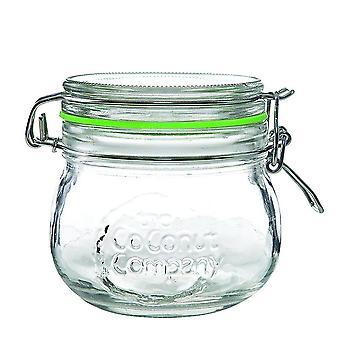 Kilner Stil Clip Glas 12 X 500ml Glas mit Silikondichtung
