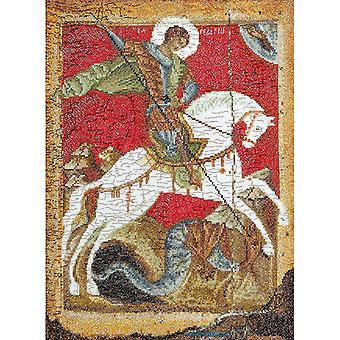 St. George & The Dragon On Aida Counted Cross Stitch Kit-8.75