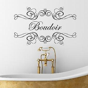 Boudoir Wall Quote