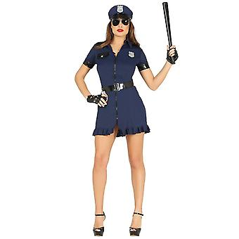 Womens Sexy Police Officer Fancy Dress Costume