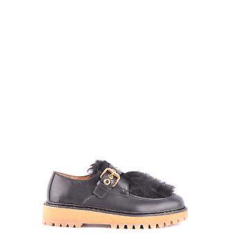 Car Shoe Black Leather Monk Strap Shoes