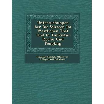 Untersuchungen Ber Die Salzseen Im Westlichen T Bet Und in Turkist N R Pchu Und Pangk Ng by Hermann Rudolph Alfred Von Schlagintweit