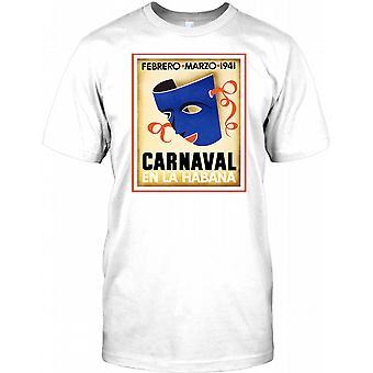 Carnaval sv La Habana - Kuba resor Retro affisch barn T Shirt