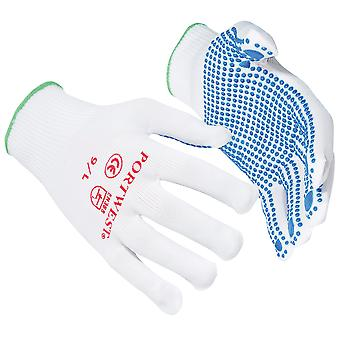 Portwest Nylon Polka Dot Gloves (A110) / Safetywear / Workwear (Pack of 2)