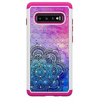 S10 de Samsung Galaxy + TPU Shell armadura Extra Durable-Henna flor
