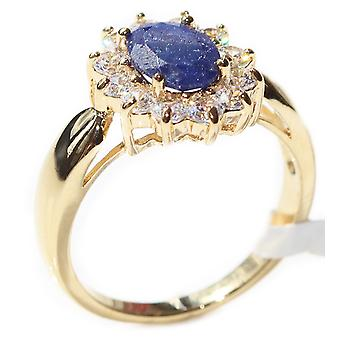 Ah! Jewellery Precious Sapphire Gemstones Ring. Gold Filled, Stamped GL