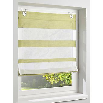 Heine home Raffrollo with stripe pattern eyelets green-/offwhite HxB 140x120 cm