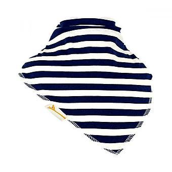 Hvit & marineblå striper xxl bandana bib