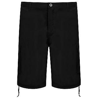 NOIZ sort bomuld Cargo Shorts med lommer