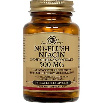 Solgar, No-Flush Niacin 500 mg Vegetable Capsules (Vitamin B3), 50
