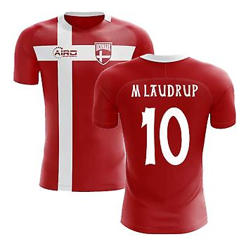 2018-2019 Denmark Flag Concept Football Shirt (M Laudrup 10) - Kids