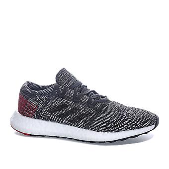 Mens adidas Pureboost Go Trainers In Core Black/ Scarlet