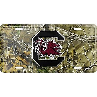 South Carolina Gamecocks NCAA Camo License Plate