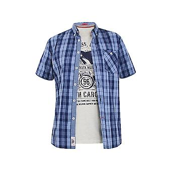 Duke Short Sleeve Casual Check Shirt And T Shirt Set