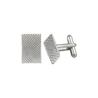 Eternal Collezione Staccato Dappled Tono argento Oblong Cufflinks