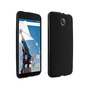 Verizon High Gloss Silicone Case for Google Nexus 6 - Black
