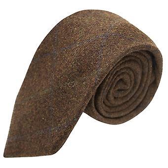 Erfgoed Check Cedar stropdas bruin