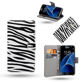 Samsung Galaxy S7 Edge cas / portefeuille en cuir